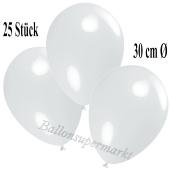 Deko-Luftballons Weiß, 25 Stück