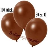 Deko-Luftballons Metallic Braun, 100 Stück