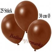 Deko-Luftballons Metallic Braun, 25 Stück