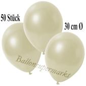 Deko-Luftballons Metallic Elfenbein, 50 Stück