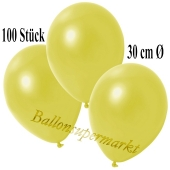 Deko-Luftballons Metallic Gelb, 100 Stück
