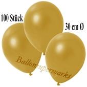 Deko-Luftballons Metallic Gold, 100 Stück