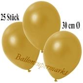 Deko-Luftballons Metallic Gold, 25 Stück