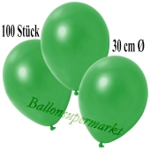 Deko-Luftballons Metallic Grün, 100 Stück