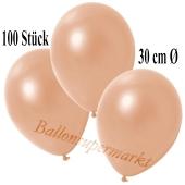 Deko-Luftballons Metallic Lachs, 100 Stück