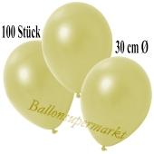 Deko-Luftballons Metallic Pastellgelb, 100 Stück