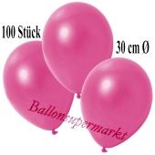 Deko-Luftballons Metallic Pink, 100 Stück