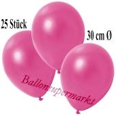 Deko-Luftballons Metallic Pink, 25 Stück
