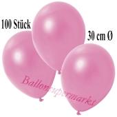 Deko-Luftballons Metallic Rosé, 100 Stück