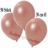 Deko-Luftballons Metallic Roségold, 50 Stück