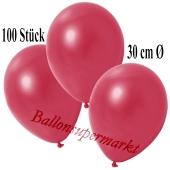 Deko-Luftballons Metallic Rot, 100 Stück