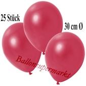 Deko-Luftballons Metallic Rot, 25 Stück