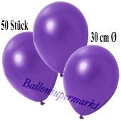 Deko-Luftballons Metallic Violett, 50 Stück