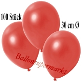 Deko-Luftballons Metallic Warmrot, 100 Stück