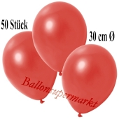 Deko-Luftballons Metallic Warmrot, 50 Stück