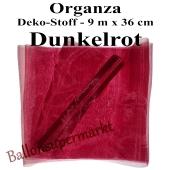 Organza Deko-Stoff, Dunkelrot, 9 Meter x 36 cm
