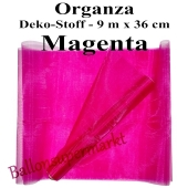 Organza Deko-Stoff, Magenta, 9 Meter x 36 cm