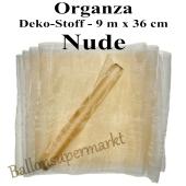 Organza Deko-Stoff, Nude, 9 Meter x 36 cm