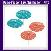 Deko-Picker Eisschirmchen Dots