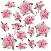 Dekorosen-Konfetti, rosa zur Hochzeit, Kommunion und Taufe