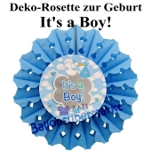 Rosette It's a Boy , Dekoration Babyparty, Geburt Junge