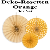 Deko-Rosetten, Orange, 3 Stück-Set