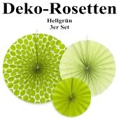 Deko-Rosetten, Apfelgrün, 3 Stück-Set