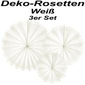 Stilvolle Deko-Rosetten, Off-White, 3 Stück-Set