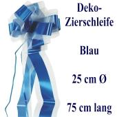 Schleife, Deko-Schleife, Zierschleife, 25 cm groß, Blau