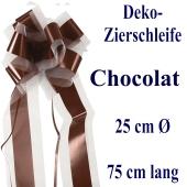 Schleife, Deko-Schleife, Zierschleife, 25 cm groß, Chocolat, Schokolade