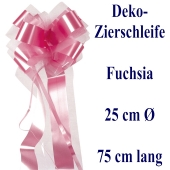 Schleife, Deko-Schleife, Zierschleife, 25 cm groß, Fuchsia