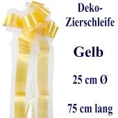 Schleife, Deko-Schleife, Zierschleife, 25 cm groß, Gelb