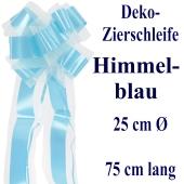 Schleife, Deko-Schleife, Zierschleife, 25 cm groß, Himmelblau