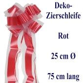 Schleife, Deko-Schleife, Zierschleife, 25 cm groß, Rot