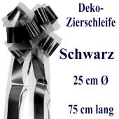 Schleife, Deko-Schleife, Zierschleife, 25 cm groß, Schwarz