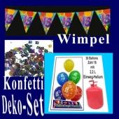 Deko-Set-2, Geburtstagsdekoration zum 18. Geburtstag