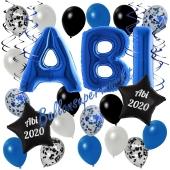 Dekorations-Set mit Ballons zum Abitur 2020 in Blau, 35 Teile