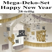 Silvester Dekorations-Set Happy New Year, 28 Teile