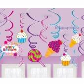 Sweet Shop, Deko-Wirbler zum Motto-Geburtstag Candy Bar