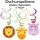 Dschungeltiere Swirl Dekoration zum Kindergeburtstag