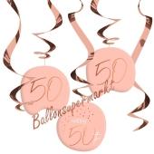 Deko-Wirbler zum 50. Geburtstag, Elegant Lush Blush 50