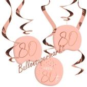 Deko-Wirbler zum 70. Geburtstag, Elegant Lush Blush 80