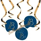 Deko-Wirbler zum 18. Geburtstag, Elegant True Blue 18