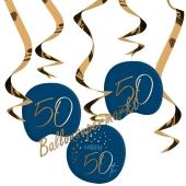 Deko-Wirbler zum 50. Geburtstag, Elegant True Blue 50