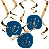 Deko-Wirbler zum 60. Geburtstag, Elegant True Blue 60