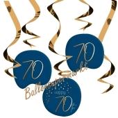 Deko-Wirbler zum 70. Geburtstag, Elegant True Blue 70