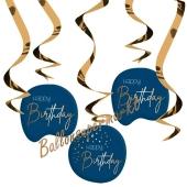 Deko-Wirbler zum Geburtstag, Elegant True Blue Happy Birthday