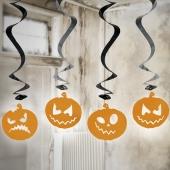 Kürbisse, Swirl-Deko zu Halloween