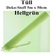 Tüll Deko-Stoff, Hellgrün, 5 Meter x 50 cm