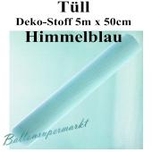 Tüll Deko-Stoff, Himmelblau, 5 Meter x 50 cm